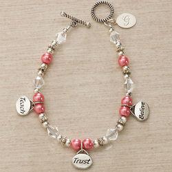 Teach, Trust, Believe Personalized Charm Bracelet