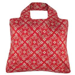 Cherry Red Rosa Reusable Shopping Bag