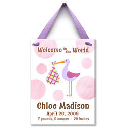 Special Delivery Personalized Ceramic Wall Tile