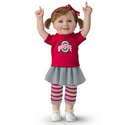 Ohio State Buckeye Girls Have More Fun Child Doll