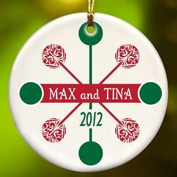 Personalized Contemporary Classic Ceramic Ornament