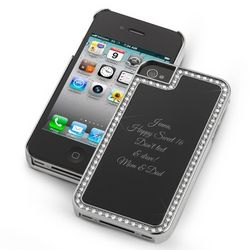 Surrounded Sparkle Black iPhone 4 Case