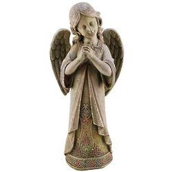 Angel with Shamrock Garden Figure