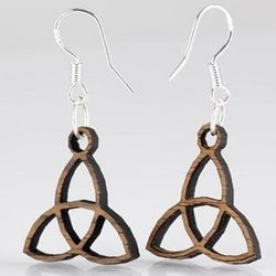 Dark Wood Trinity Earrings