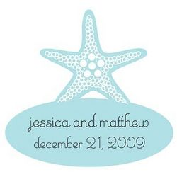 Starfish Shaped Personalized Stickers
