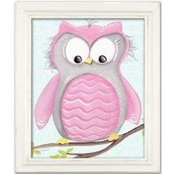Olive Owl Framed Wall Art