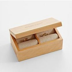 Personalized Mr. and Mrs. Ring Holder Box