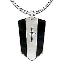 Protection and Strength For My Grandson Black Sapphire Pendant