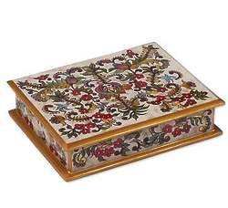 Floral Dream Reverse Painted Glass Box