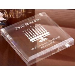 Menorah Keepsake and Paperweight
