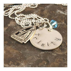 Confirmation Personalized Hand Stamped Necklace