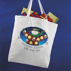 Personalized Jingle Bells Tote