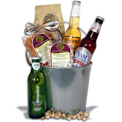 Light Beer Bucket with 3 Beers