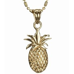 Pineapple Pendant in 14k Gold