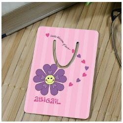 Personalized Happy Flower Bookmark