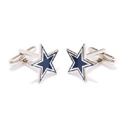 Dallas Cowboys Enamel Star Cufflinks