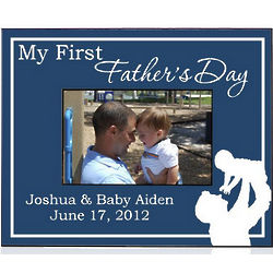 My First Father's Day Personalized Picture Frame