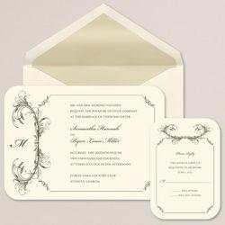 Feathered Elegance Wedding Invitations