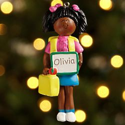 Personalized 1st Day of School Christmas Ornament