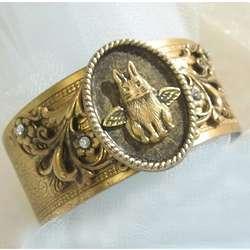 Bunny Angel Vintage Bracelet Cuff