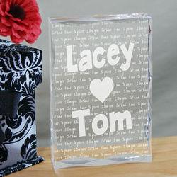 I Love You Valentine Plaque