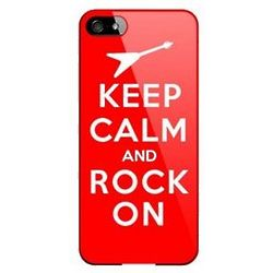 Keep Calm and Rock On Slim Hard Case for Apple iPhone 5