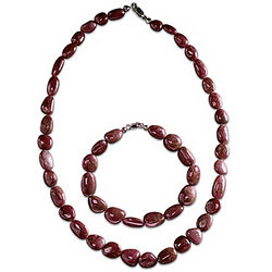 Natural Beauty Ruby Necklace and Bracelet