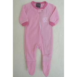 Newborn and Infant's UW Badgers Pink Fleece Sleeper