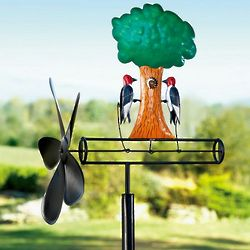 Kinetic Garden Art Woodpecker Whirligig