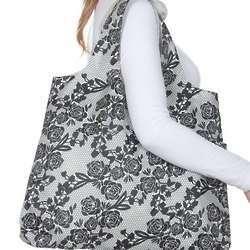 Black Rose Rosa Reusable Shopping Bag