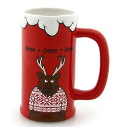 Bear Plus Deer Equals Beer Mug