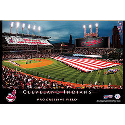 Cleveland Indians Personalized Stadium Canvas