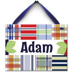 All About Plaid Personalized Ceramic Wall Tile