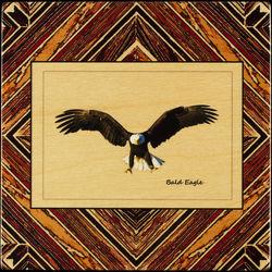 Coaster with Bald Eagle