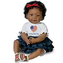Always Stay True Michelle Obama Tribute Baby Doll