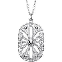 Sterling Silver Vintage Medallion Necklace