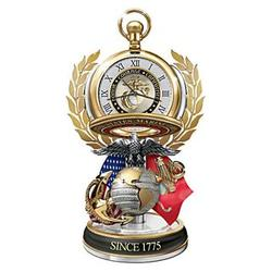 USMC Semper Fi Tribute Pocket Watch with Display
