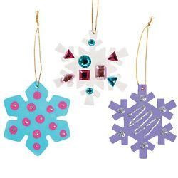 12 DIY Wood Snowflake Ornaments