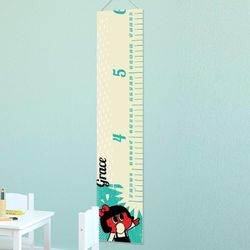 Retro Girl Personalized Height Chart