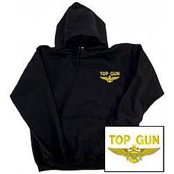 Top Gun Embroidered Hooded Pullover Sweatshirt