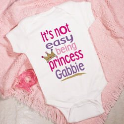 Personalized Princess Baby Creeper