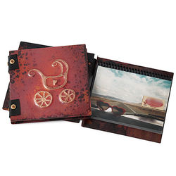 Baby Carriage Copper Photo Album