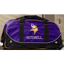 Personalized Minnesota Vikings Rolling Duffel Bag