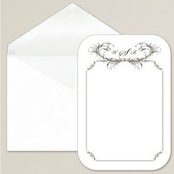 Feathered Elegance Wedding Thank You Notes