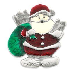 Antique-Style Santa Claus Brooch