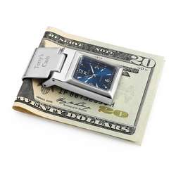 Blue Watch Money Clip