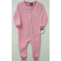 Toddler's UW Badgers Pink Fleece Sleeper