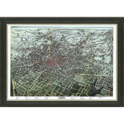 Framed Map of Vintage Atlanta