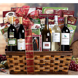 California Red and White Wine Gift Basket