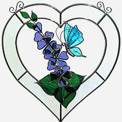 Butterfly Beveled Heart